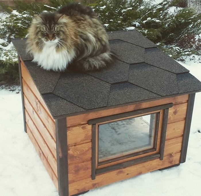 теплый домик для кошек