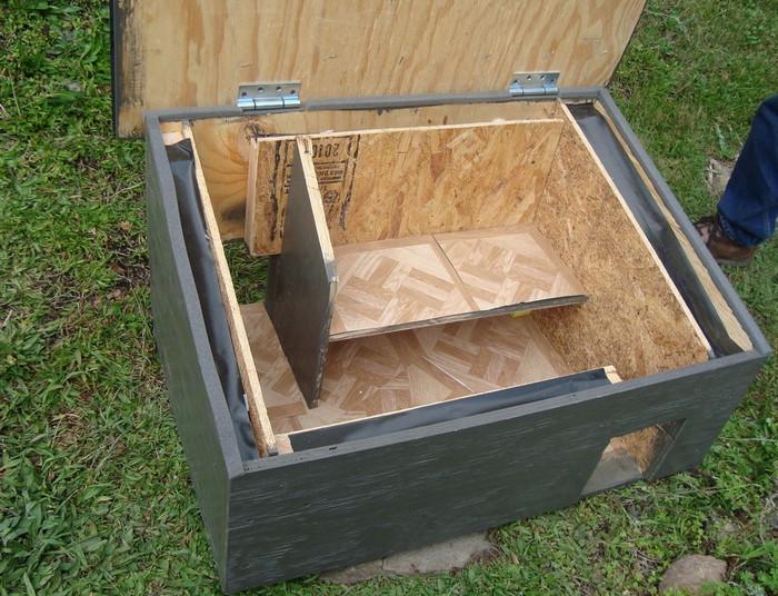 внутренняя и внешняя отделка будки для кошки
